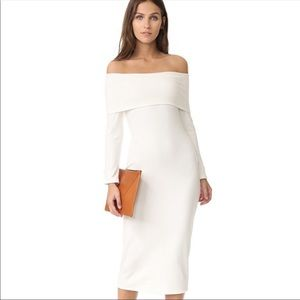 NWT RACHEL PALLY Luxe Rib Wesly Dress Ivory XS